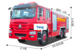 HOWO 3 Cubic Foam Fire Fighting Truck for Sale
