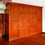 Hand Carved Furniture Clothes Closet Bedroom Wood Wardrobe (GSP17-015)