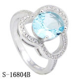 Imitation Jewelry Silver Diamond Ring Factory Wholesale