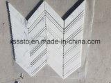 Statuario Marble Chevron Mosaic Pattern Interior & Exterior Wall Floor Tile