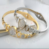Newest Diamond Bracelet Jewelry Fashion Women Hollow Open Cuff Bangle