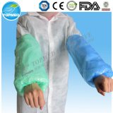 Disposable White PE Sleeve Cover, Blue PE Sleeve Cover