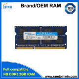 High Performance 128MB*8 Cl9 8kit DDR3 2GB RAM 1333 for Laptop