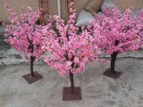 Peach Blossom Artificial Silk Flower Tree