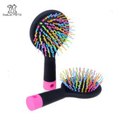 Pet Rainbow Comb Flexible Pins with Plastic Tips Pin Grooming Brush for Dogs & Cats