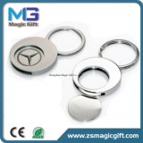Promotional Round Shape Die Casting Benz Logo Metal Trolley Coin