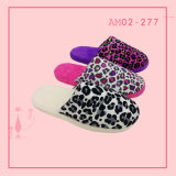 Ladies Fishion Leopard Print Indoor Soft Nice Slipper