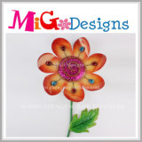 Christmas Gifts Metal Flower Wall Art with Crystal