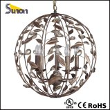 Ball Shaped Iron Brown Pendant Light