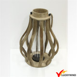 Outdoor and Home Decorative Country Distressed Wooden Candle Lantern