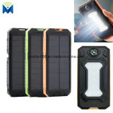 10000mAh Portable Dual USB Solar Power Bank with LED Light with Compass Outdoors Emergency Battery