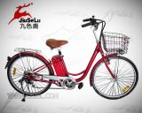 New Design 250W 24V Lithium Battery Red Electric Bicycle (JSL008A-5)