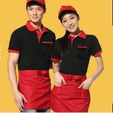 Fast-Food Restaurant Uniform Short Sleeve Apron Waitress Uniform Polo Shirt