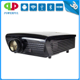 Connecting Phone 3D 1920*1280 HD Video High Brightness 3000 Lumens Home LED Projector with Bluetooth USB TV