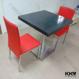 Black Solid Surface Dining Furniture Table Set