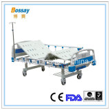 Aluminum Alloy Siderails Manual Bed Two Cranks Hospital Bed