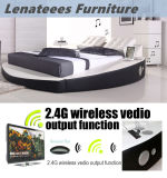 A066-1 Popular Design Round Bed Music Bed with Speaker
