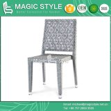 Stackable Chair Dining Chair Outdoor Furniture Patio Chair Rattan Chair Wicker Armless Chair Hotel Project Coffee Chair (MAGIC STYLE)