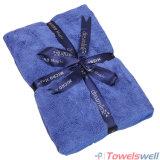 Blue Soft Microfiber Terry Bath Towel