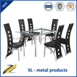 Home Furniture 1+6 Seater Glass Dining Table Set