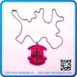 China Wholesales PVC Logo Metal Necklace for Decoration
