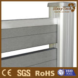 WPC Fence, Wood-Like Appearance, Metal Frame Structure