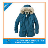 Fur Hood Warm Simple Sport Parka Jacket for Men