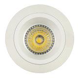 Lathe Aluminum GU10 MR16 Round Fixed Recessed LED Ceiling Light (LT2108)