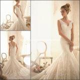 V-Neck Bridal Gowns Mermaid Lace Gorgeous Wedding Dresses Z112