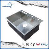 Classic Single-Bowl Stainless Steel Fancy Hand Made Sink (ACS6850S)