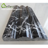 Hot Selling Polished M501 Black Marquina Marble Moulding for House