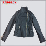 Best Sell Fashion PU Outerwear Jacket for Women
