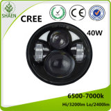 5.75 Inch 40W Round LED Headlight for Motorcycle