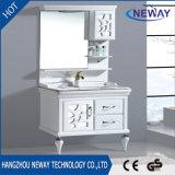 New Floor Standing Mirror Cabinet Design PVC Bathroom Cabinet