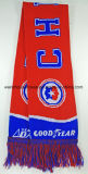Newest Custom Acrylic Knitted Soccer Scarf