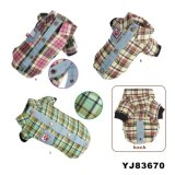 Elegant Plaid Style Dog T-Shirts, Dog Clothes (YJ83670)