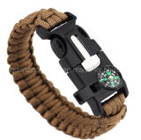 OEM Outdoor Sport LED Bracelet with Compass Firestone Knife Whistle