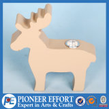 Wooden Christmas Deer Candle Holder