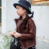 Fashion Girl′s Jacket with PU