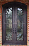 Best Selling Round Top Beautiful Wrought Iron Front Entry Door