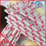 Red Eco and Recycled Paper Straws Drinking Straws