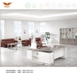 Commercial Office Furniture Executive Melamine Office Desk Office Table with Metal Leg (H70-0176)