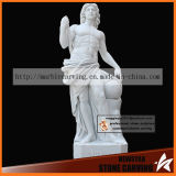 Sun God Apolo Statue Carving in White Marble Nss039