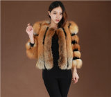 2014 Winter Warm Women′s Medium-Long Genuine Fox Fur Coats