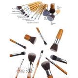 Hot Selling 11PCS Wood Handle Kabuki Makeup Brush Set Cosmetic Eyeshadow Foundation Brushes