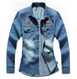 2015 Fashion Men Jeans Denim Shirt OEM Clothing Manufacturing