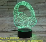 LED Acrylic Headphone Engraving with 3D Effect