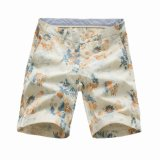 100% Cotton Flower Printed Men′s Shorts (41319G5)