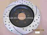 Rear Cross Drilled and Slotted Brake Rotor