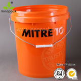 Plastic Bucket, 20L Paint Bucket, White Plastic Pail with Handle